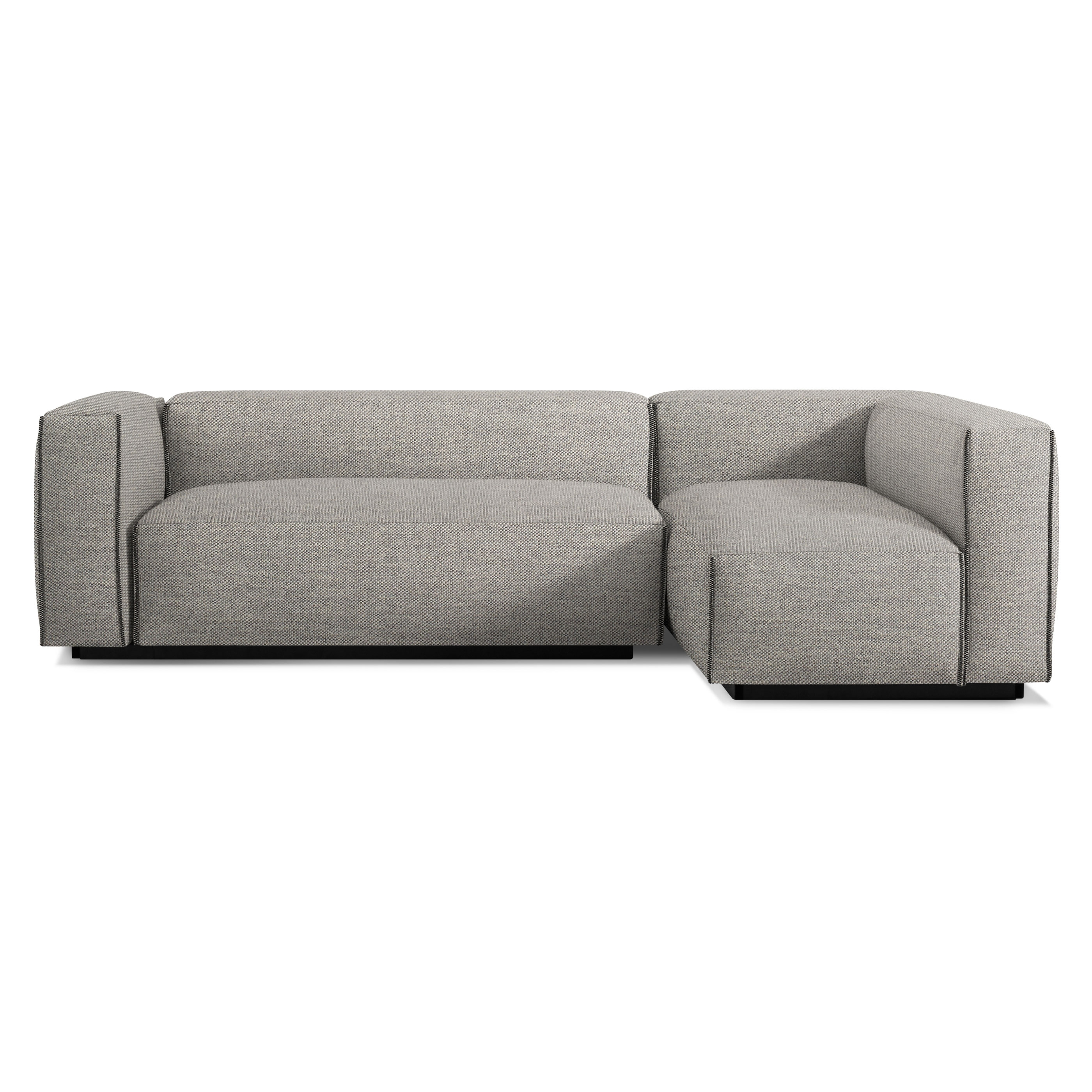 previous image cleon small sectional sofa - tait charcoal ... PVTNPCF