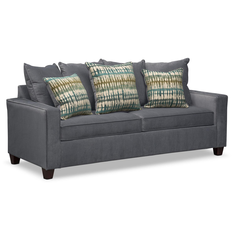 queen sleeper sofa bryden queen memory foam sleeper sofa - slate GDPTBWY