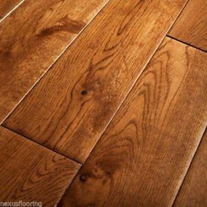 Real oak flooring image is loading 18mm-x-150mm-hand-scraped-tobacco-golden-oak- WZAILJB