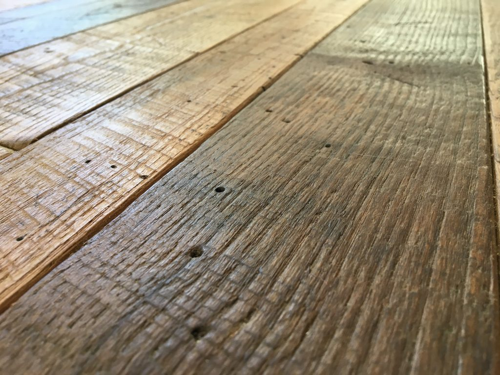 reclaimed wood flooring thickness ... BDDVGEA