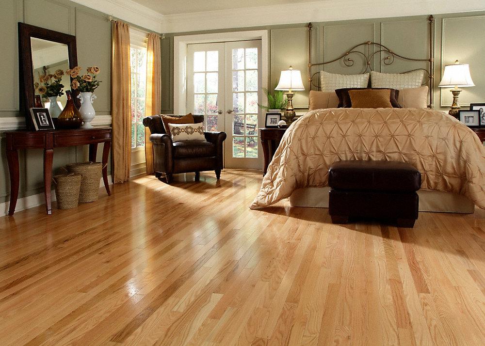 Red oak hardwood flooring is durable and beautiful