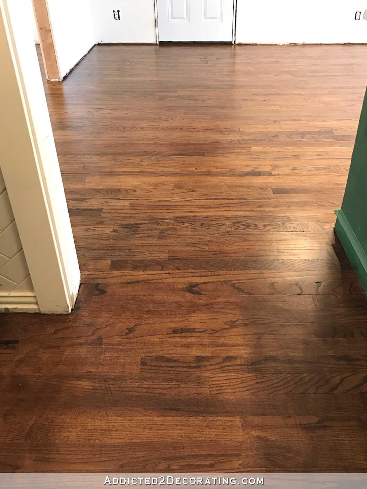 Red oak hardwood flooring refinished red oak hardwood floors - kitchen and breakfast room OCNLIJK