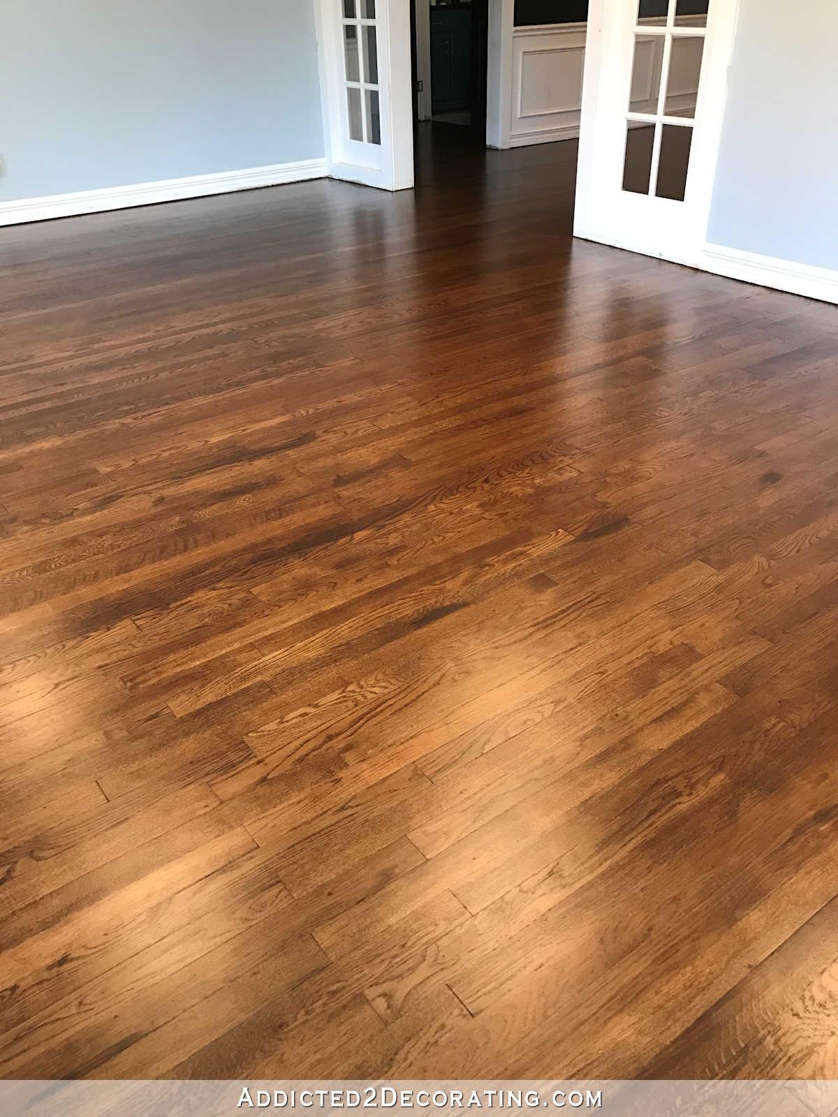 Red oak hardwood flooring refinished red oak hardwood floors - living room, entryway and music room QWFLGSN