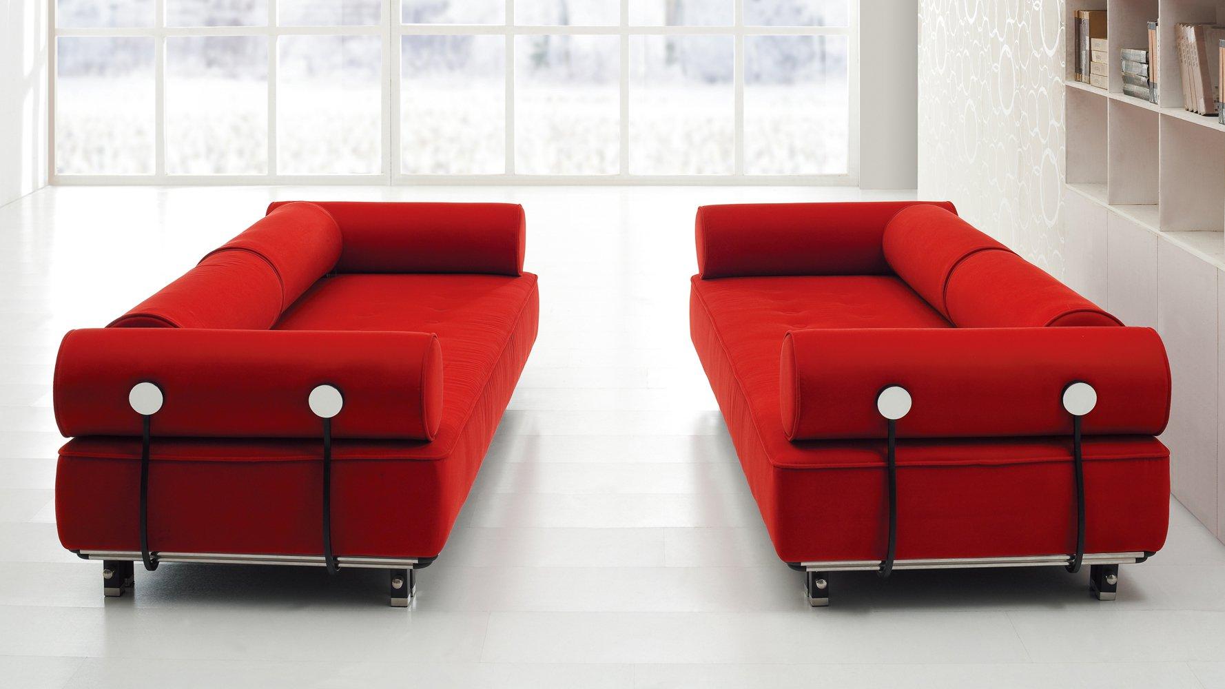 red sofas carrera modern fabric sofa - red | zuri furniture YISZFJG