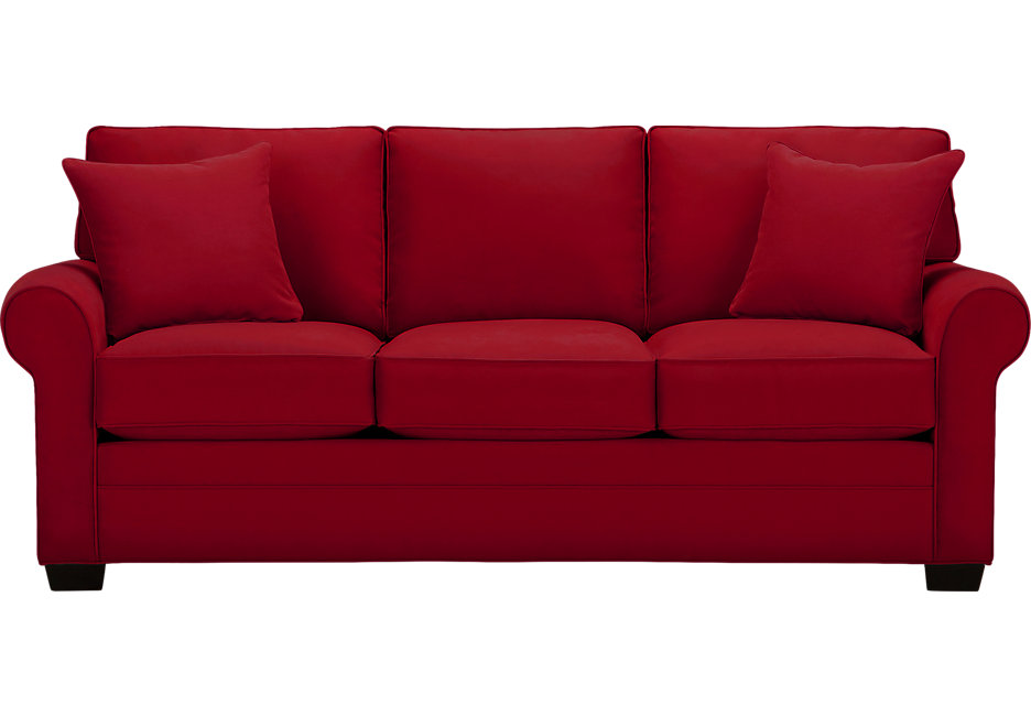red sofas cindy crawford home bellingham cardinal sofa - sofas (red) TRBZAAS