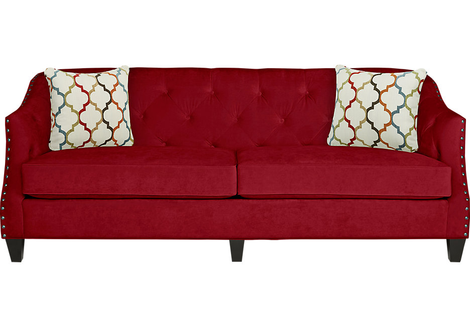 red sofas monaco court scarlet sofa GVZLJKG