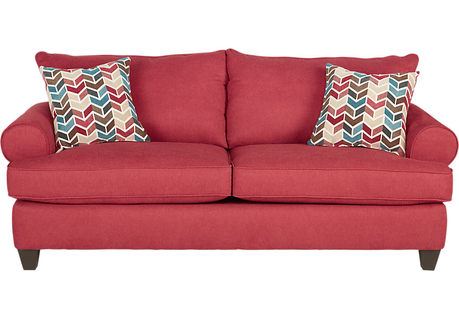 red sofas park square red sofa ZNUJQLC