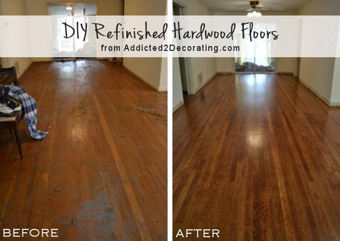 refinish hardwood floors diy refinished hardwood floors, before and after (65-year-old oak floors LWBHCKP