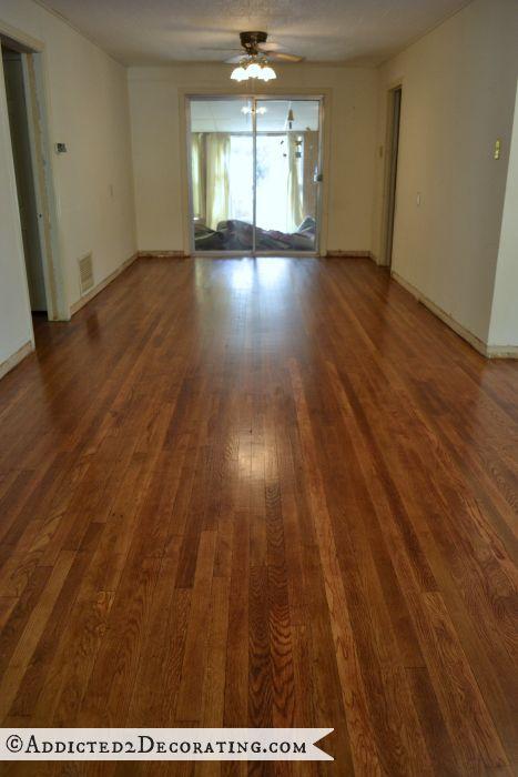 refinish hardwood floors diy refinished hardwood floors, from www.addicted2decorating.com SZWGCXW
