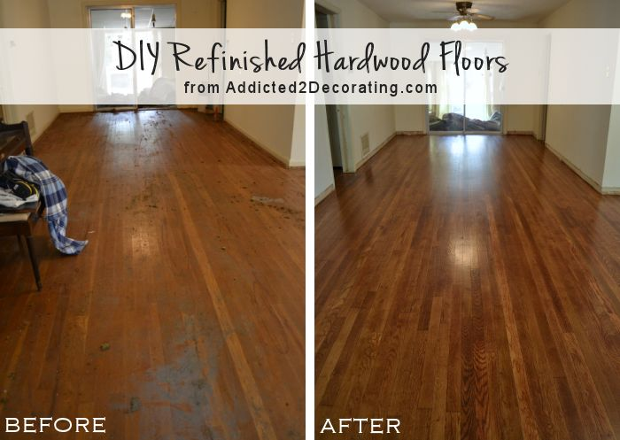 refinishing hardwood floors diy refinished hardwood floors, before and after (65-year-old oak floors JSUEVPX