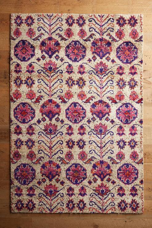 rose beige floral rug UHINWLK