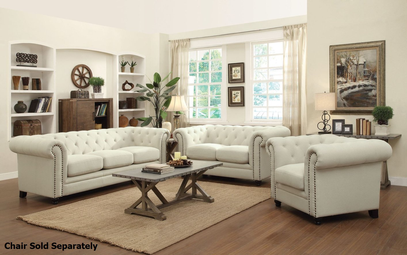 Install sofa and loveseat set to make your living room elegant