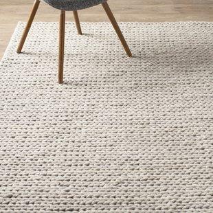 rug wool arviso hand-woven wool white area rug SKBJDVZ