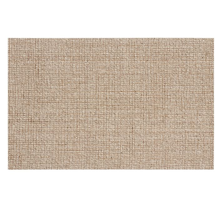 rug wool chunky wool u0026 jute rug - natural | pottery barn ILORBWZ