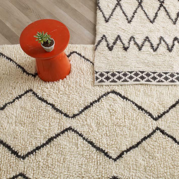 rug wool souk wool rug - ivory | west elm XATEFOT