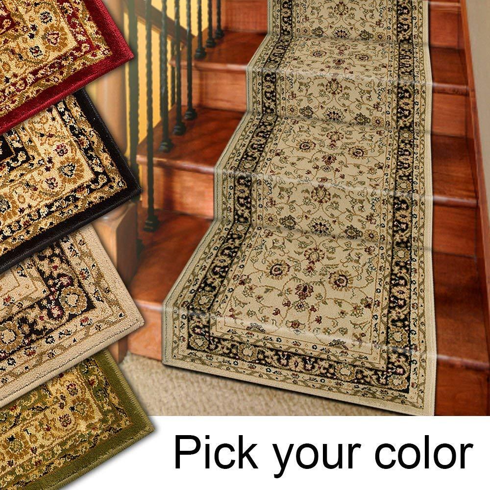 runner rug amazon.com: 25u0027 stair runner rugs - marash luxury collection stair carpet  runners XAUPJRW
