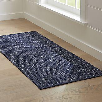 runner rug della indigo cotton flat weave rug runner 2.5x6 DMCUCQB
