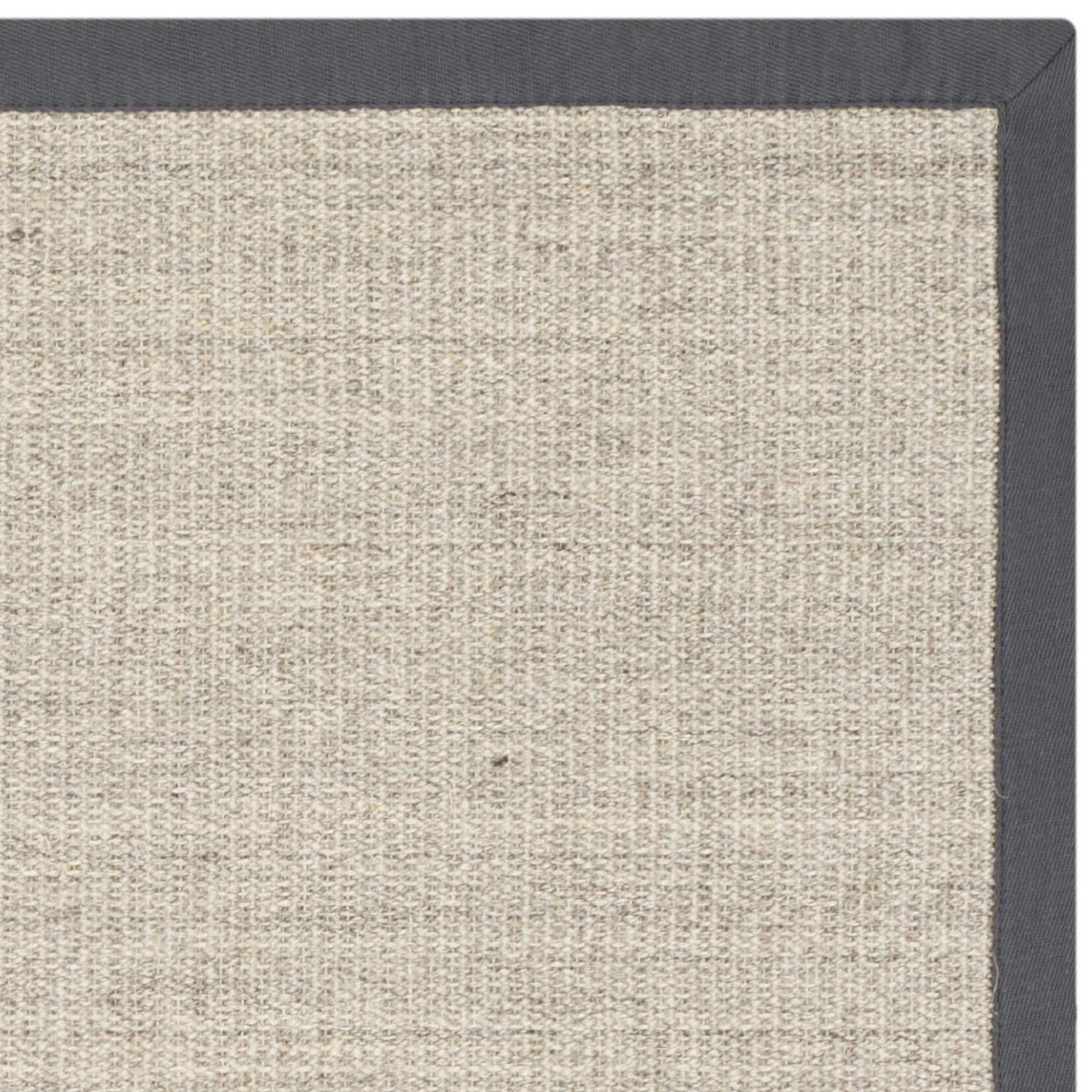safavieh casual natural fiber hand-woven serenity marble / grey sisal rug - IVQXIFR