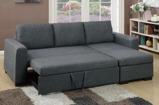samo grey fabric sectional sofa bed RLVTCFS