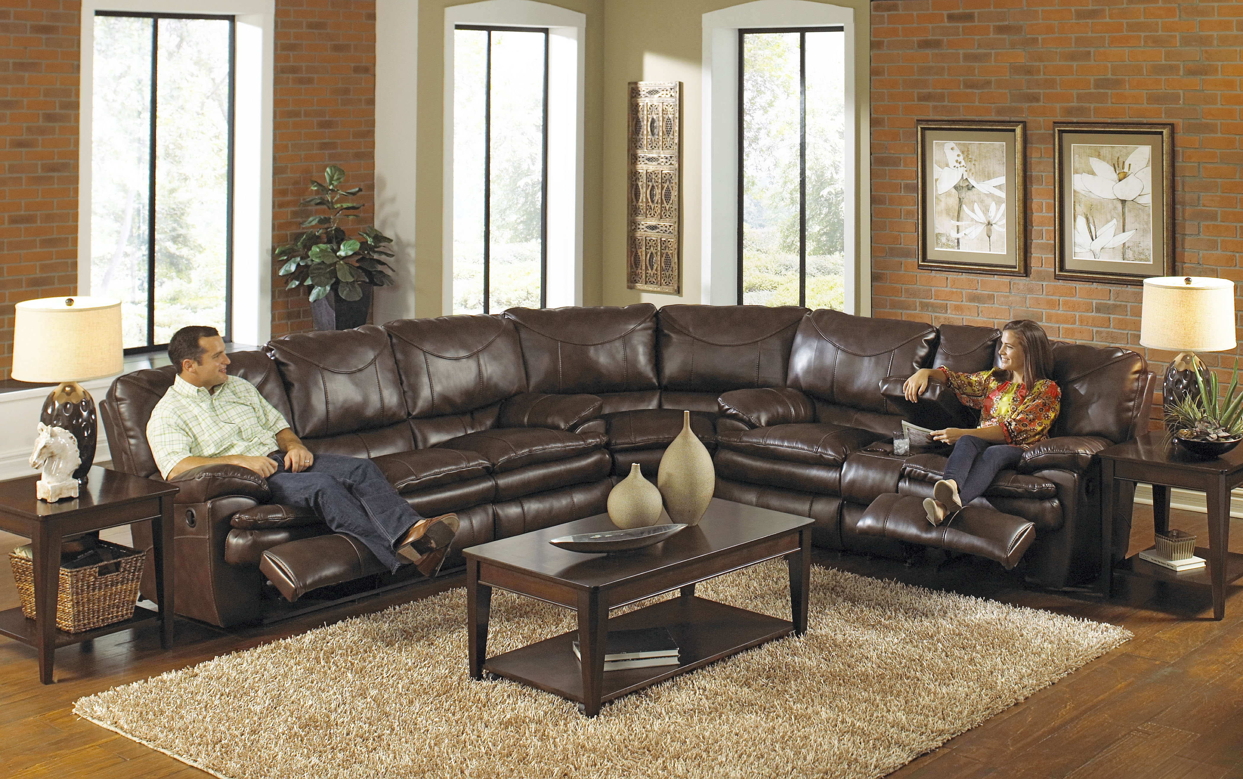 Seating furniture – sectional reclining sofa