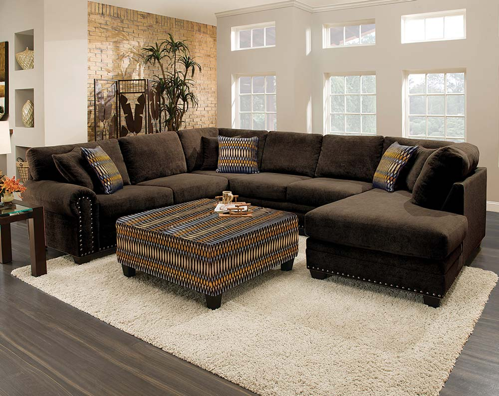 sectional sofa admirable design of chocolate brown sectional sofa with  chaise IQEUYHV