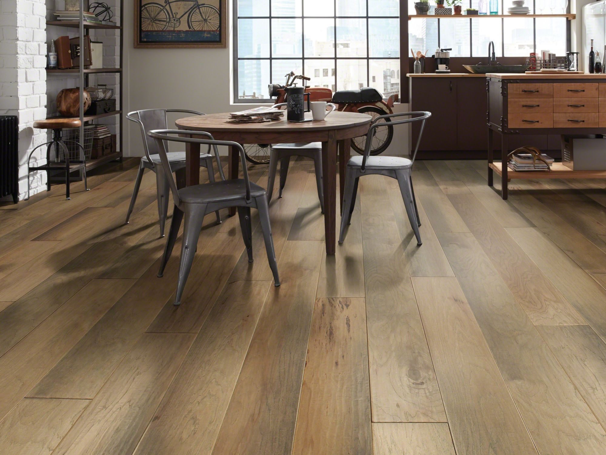 shaw wood flooring monument hickory scraped - room TWUWBSB
