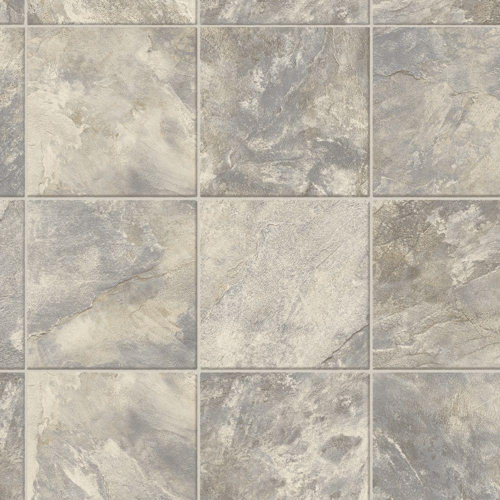 Sheet vinyl flooring trafficmaster neutral square slate 12 ft. wide x your choice length vinyl TJWHZPT