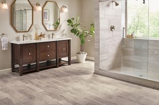 Sheet vinyl flooring vinyl sheet in a bathroom - citadel rock - solar morning - b6325 PISXQDS