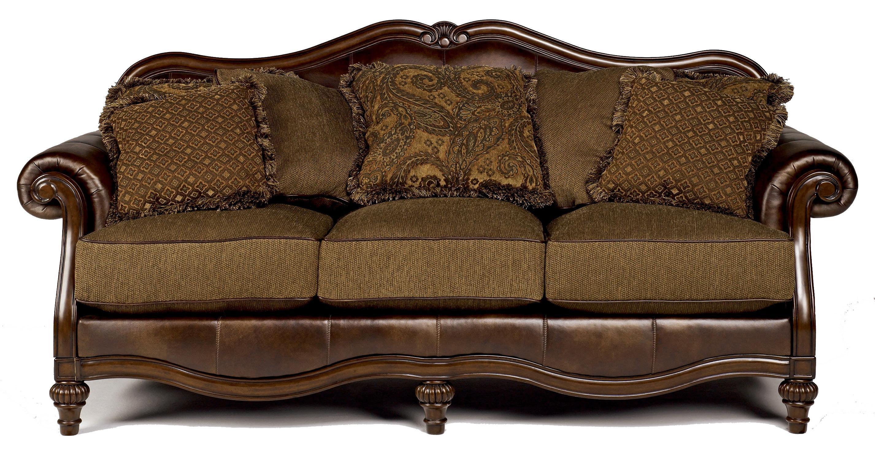 signature design by ashley claremore - antique sofa - item number: 8430338 WUCGHAL