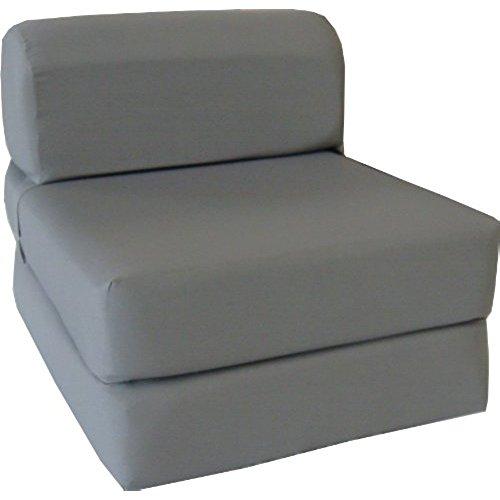 single sofa bed gray sleeper chair folding foam bed sized 6 ZQXQFPV