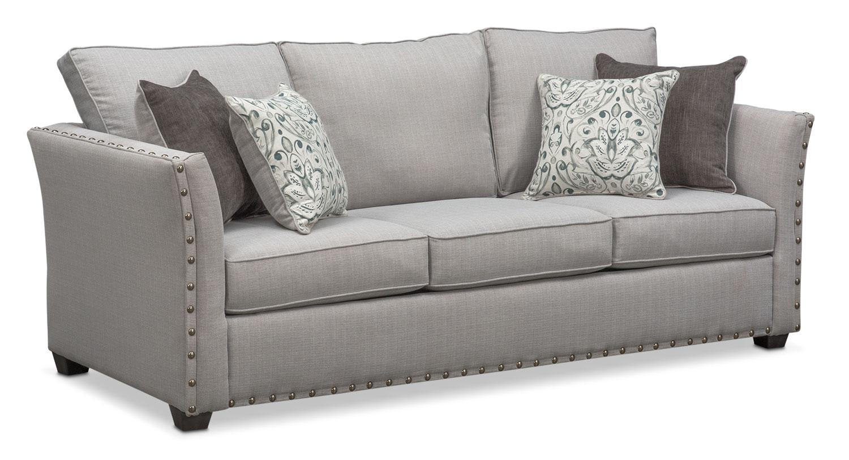 sleep sofa mckenna queen innerspring sleeper sofa - pewter DQXWWSA