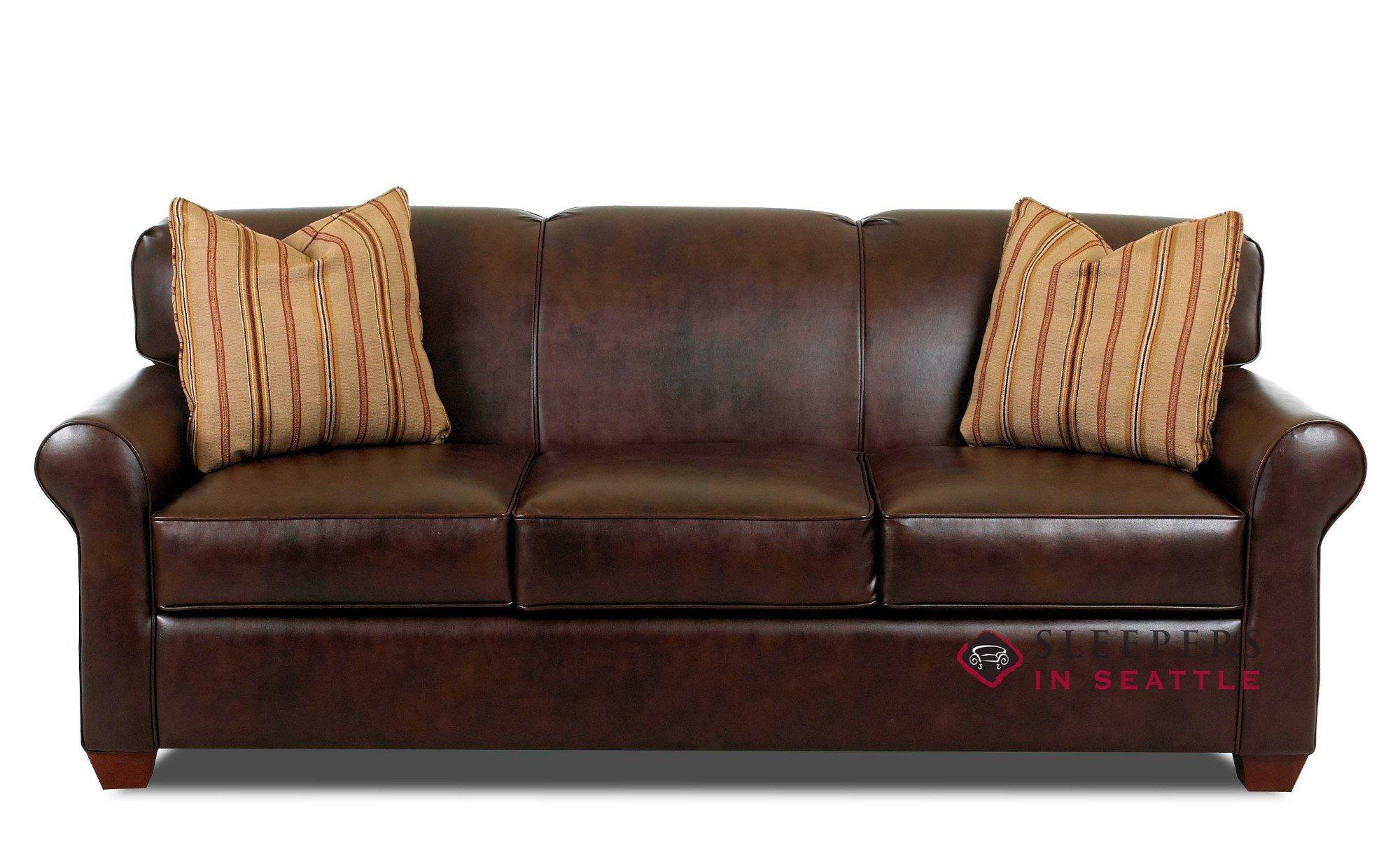 sleep sofa savvy calgary sleeper (queen) in leather BJLQJXS