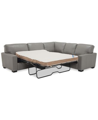 sleeper sectional sofa furniture ennia 2-pc. leat. GBETDAE