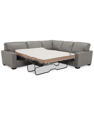 sleeper sectional sofa furniture ennia 2-pc. leat. GBETDAE