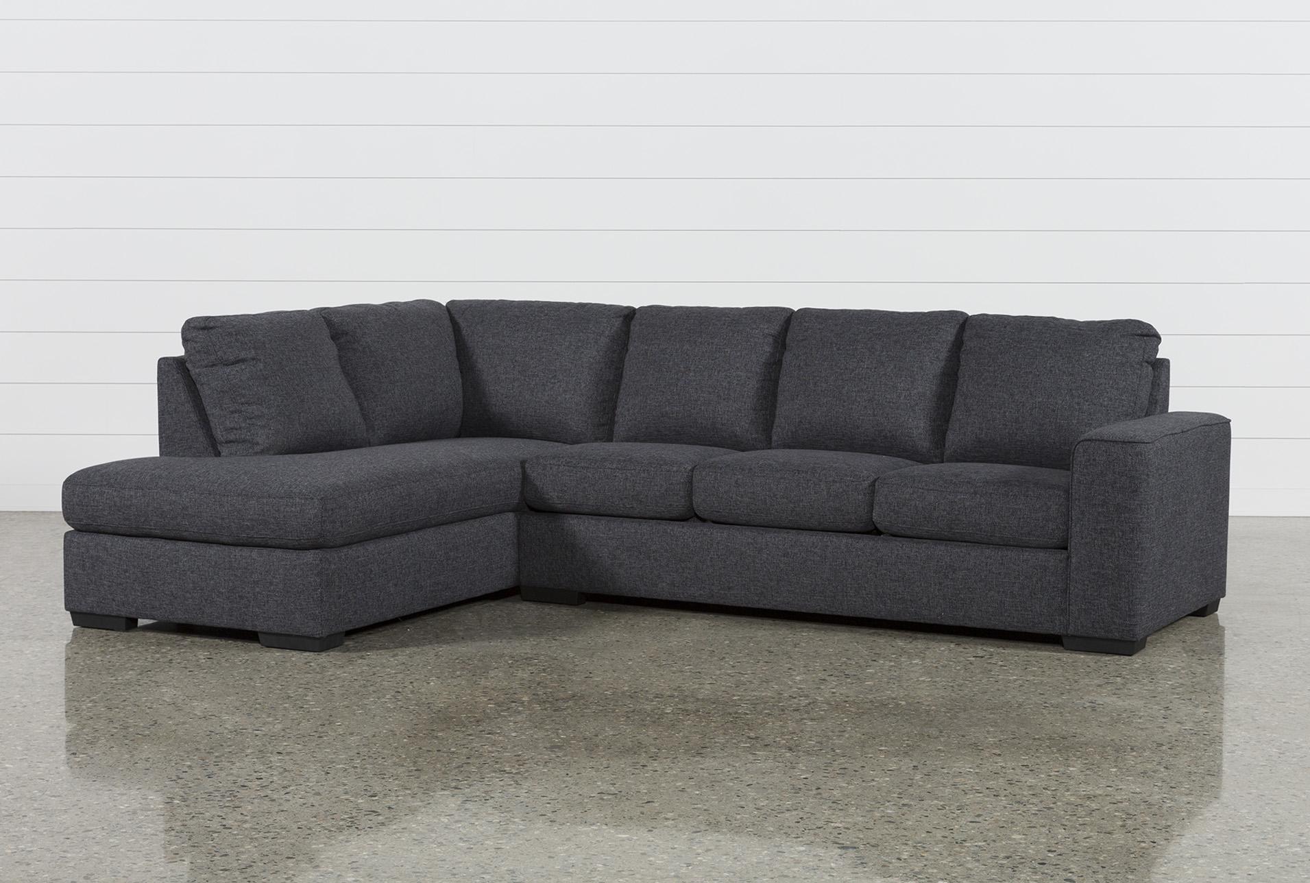 sleeper sectional sofa lucy dark grey 2 piece sleeper sectional w/laf chaise QDUSAYL