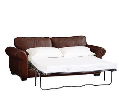 sleeper sofa leather pearce leather sleeper sofa, down blend wrapped cushions, leather signature  espresso ... TERLMVK