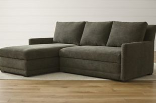 sleeper sofa sectional reston 2-piece left arm chaise trundle sleeper sectional sofa LUKDOZH