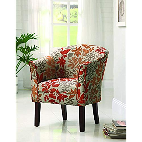 small living room chairs coaster traditional accent chair with autumn upholstery DUNXGJG