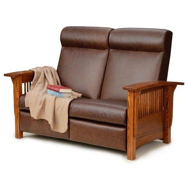 small reclining loveseat consider the paradise mission reclining loveseat for a small living room or RFTHVXP