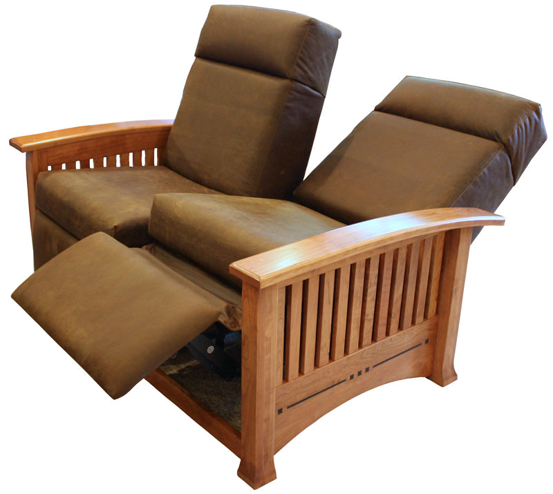 small reclining loveseat modern reclining loveseat also wooden mission design and brown leather  material TEDUENN