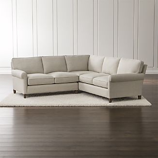 small sectional sofa montclair 2-piece right arm corner roll arm sectional sofa ZRYMIRE