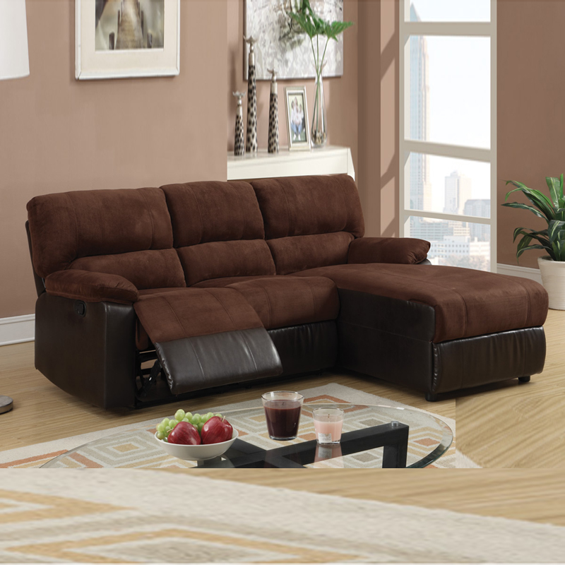 small sectional sofa with chaise fantastic microfiber reclining sectional sofa with small chocolate  microfiber loveseat recliner right XHWPAMM