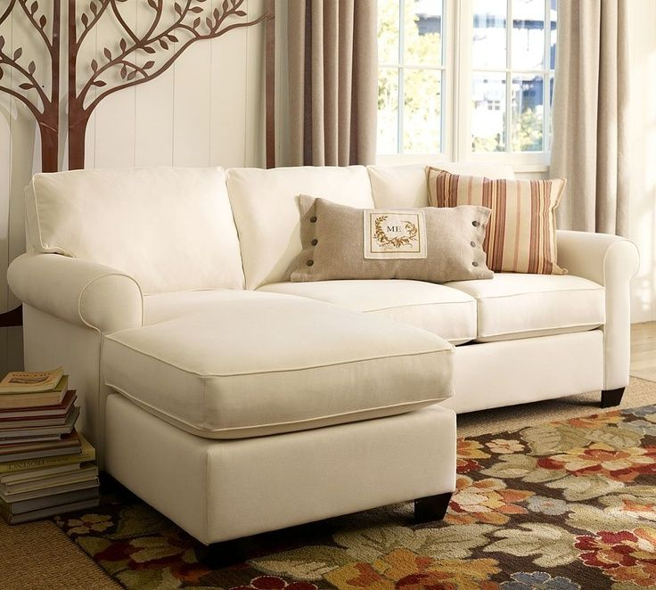 Living room furniture – small sectional sofa with chaise
