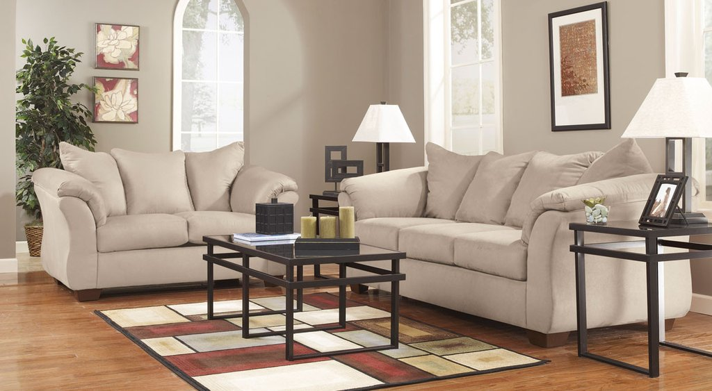 Get a sofa and loveseat for a versatile seating arrangement