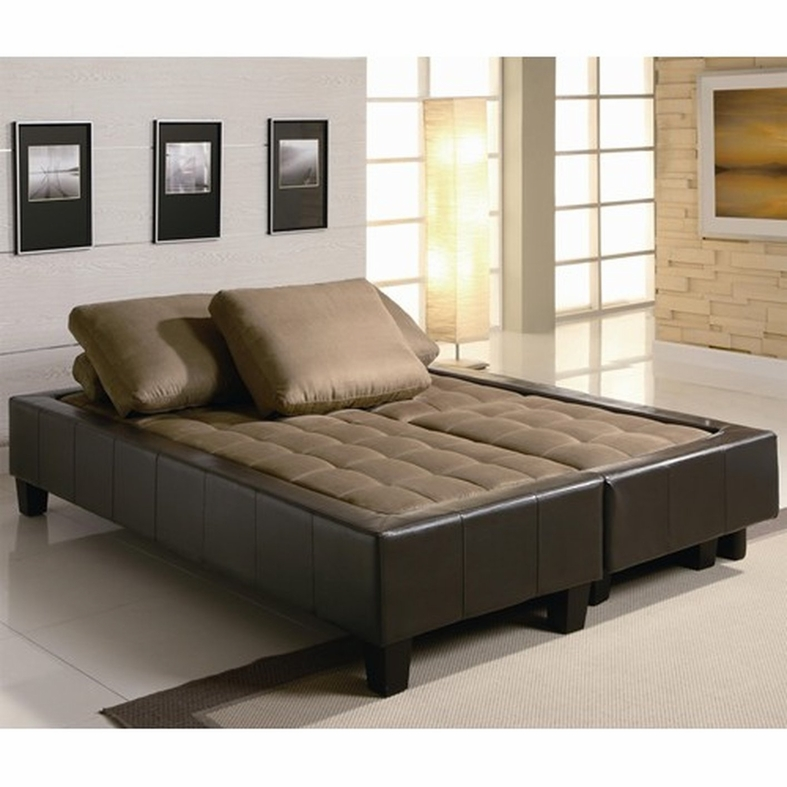 sofa bed set brown fabric sofa bed and ottoman set ODCXGKD