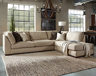 sofa couch for living room ... large malakoff 2-piece sectional, , rollover VOGEAUE