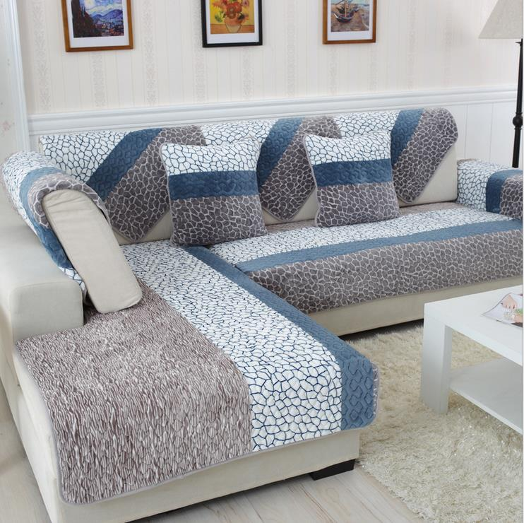 sofa covers 1 piece fleeced fabric sofa cover european style soft modern slip resistant UDHSCUL