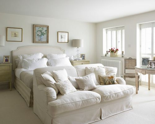 sofa for bedroom bedroom - large farmhouse master carpeted bedroom idea in wiltshire with  white KNSUQRH