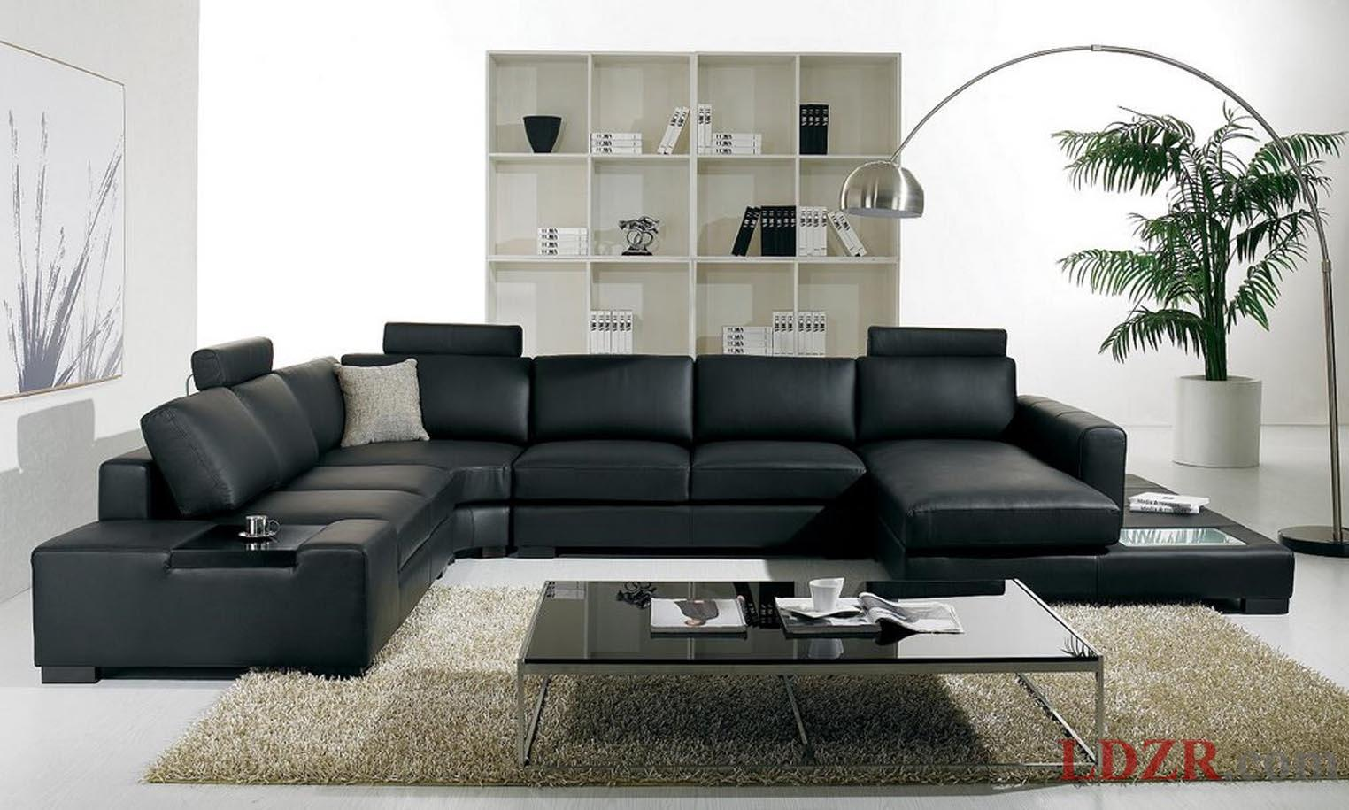 sofa for living room livingroom:home and living lovely room with black leather sofa interior  design brown MIKVNQT