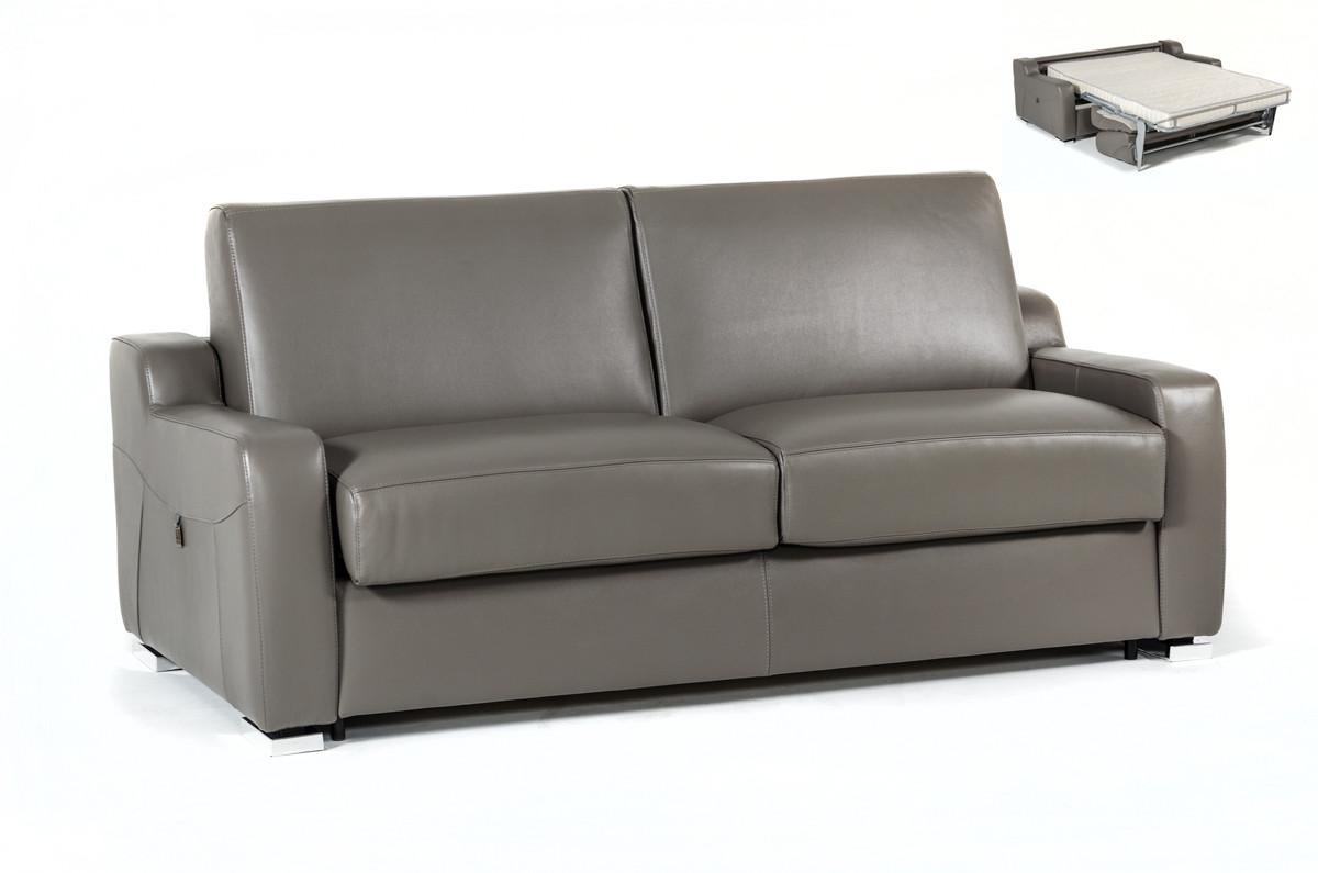 Sofa leather bed estro salotti dalia modern grey leather sofa bed CNLJVEU